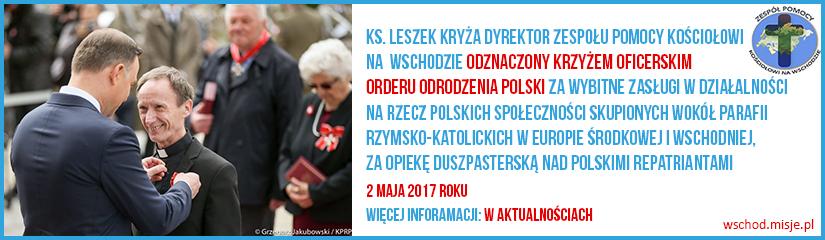 ks. Leszek odznaczony KRZYŻEM OFICERSKIM ORDERU ODRODZENIA POLSKI